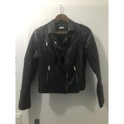 Vêtements Femme Blousons Sans marque Blouson motard Noir