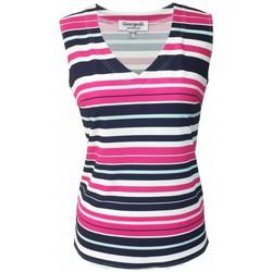 Vêtements Femme Tops / Blouses Georgedé Top Cynthia en Jersey Imprimé Rayures Multicolore