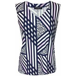 Vêtements Femme Tops / Blouses Georgedé Top Cynthia en Jersey Imprimé Géométrique Multicolore