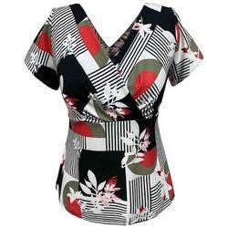 Vêtements Femme Tops / Blouses Georgedé Top Cassie en Jersey Imprimé Multicolore
