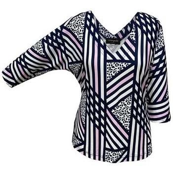 Vêtements Femme Tops / Blouses Georgedé Top Elona Chauve-Souris Imprimé Multicolore