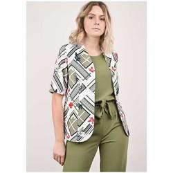 Vêtements Femme Vestes / Blazers Georgedé Veste Aliya en Jersey Imprimée Multicolore