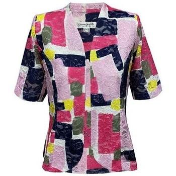 Vêtements Femme Vestes / Blazers Georgedé Veste Paola en Dentelle Imprimée Rose Multicolore