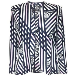 Vêtements Femme Vestes / Blazers Georgedé Veste Léa en Jersey Imprimée Géométrique Multicolore
