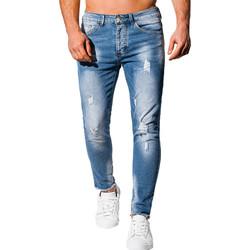 Vêtements Homme Jeans slim Monsieurmode Jeans homme déchiré Jeans 1066 bleu Bleu