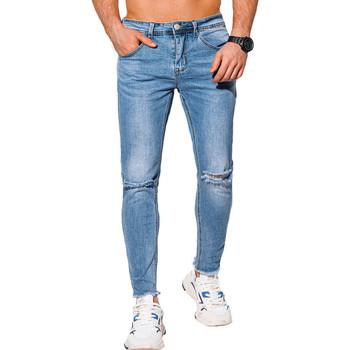 Vêtements Homme Jeans slim Monsieurmode Jean déchiré pour homme Jean 1053 bleu Bleu