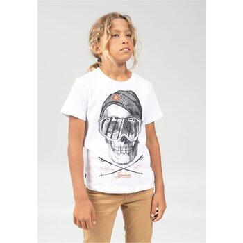 Vêtements Garçon T-shirts manches courtes Deeluxe T-Shirt LANDY White