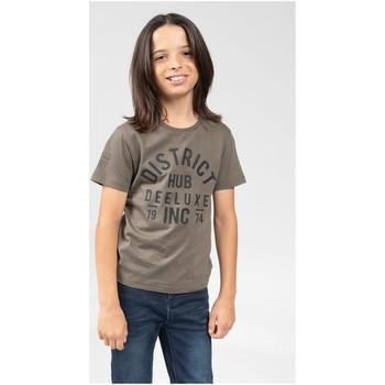 Vêtements Garçon T-shirts & Polos Deeluxe T-Shirt SPENCER Dark Khaki