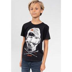 Vêtements Garçon T-shirts manches courtes Deeluxe T-Shirt LANDY Black