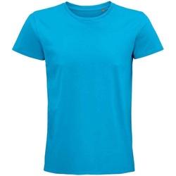 Vêtements T-shirts manches courtes Sols 03565 Bleu clair