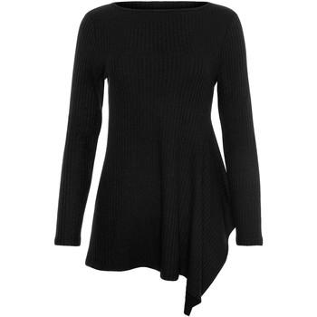 Vêtements Femme Pulls Lisca Top asymétrique manches longues Cosy  Cheek Noir