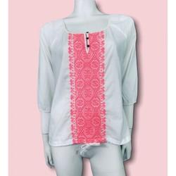 Vêtements Femme Chemises / Chemisiers Roxy Roxy - Blouse Brodée Manches 3/4 T. 38 Blanc