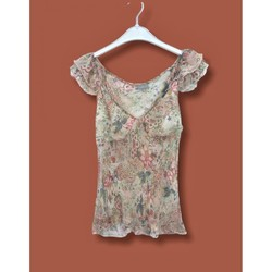 Vêtements Femme Tops / Blouses Naf Naf Naf Naf - Blouse Imprimée 100% Soie T. 40 Multicolore