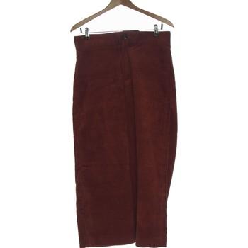 Vêtements Femme Pantalons Zara Pantalon Droit Femme  38 - T2 - M Rouge