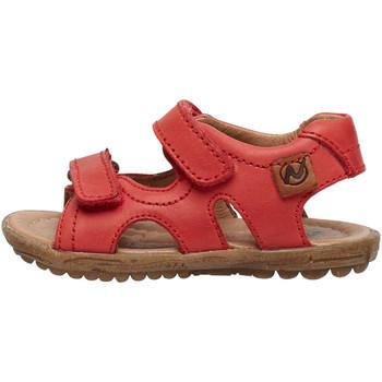 Chaussures Sandales et Nu-pieds Naturino SKY-sandale en cuir rouge