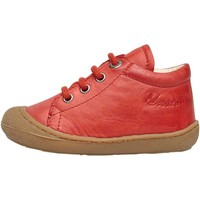 Chaussures Baskets basses Naturino COCOON-petites chaussures premiers pas en cuir nappa rouge