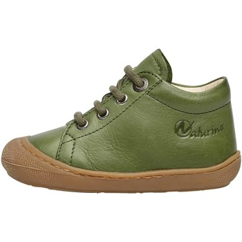 Chaussures Derbies Naturino COCOON-petites chaussures premiers pas en cuir nappa vert