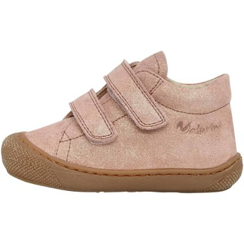 Chaussures Fille Baskets mode Naturino COCOON VL-chaussure cuir premiers pas rose