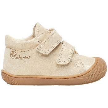 Chaussures Fille Baskets mode Naturino COCOON VL-chaussure cuir premiers pas platine