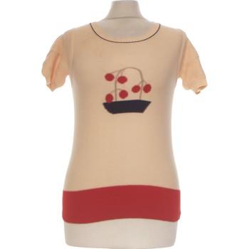 Vêtements Femme Tops / Blouses Sonia Rykiel Top Manches Courtes  36 - T1 - S Beige