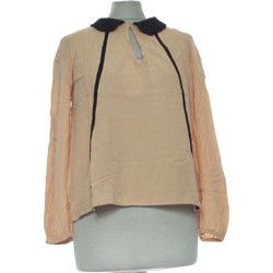 Vêtements Femme Tops / Blouses Zara Top Manches Longues  36 - T1 - S Beige