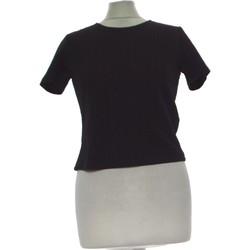 Vêtements Femme Tops / Blouses Forever 21 Top Manches Courtes  38 - T2 - M Noir