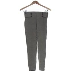Vêtements Femme Chinos / Carrots Zara Pantalon Droit Femme  34 - T0 - Xs Gris