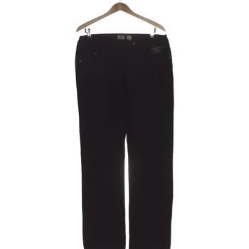 Vêtements Femme Jeans droit Kanabeach Pantalon Droit Femme  42 - T4 - L/xl Noir