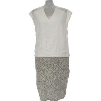 Vêtements Femme Robes longues Camaieu Robe Mi-longue  38 - T2 - M Blanc