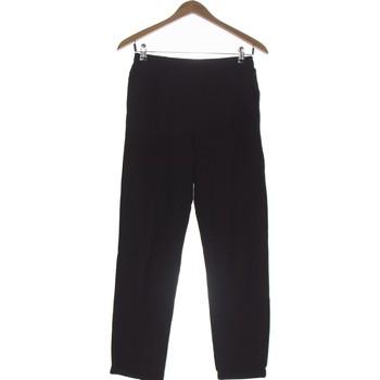 Vêtements Femme Pantalons fluides / Sarouels Bershka Pantalon Droit Femme  38 - T2 - M Noir