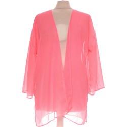 Vêtements Femme Gilets / Cardigans Bershka Gilet Femme  38 - T2 - M Rose