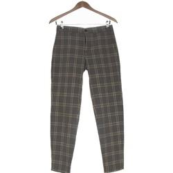 Vêtements Femme Chinos / Carrots Bershka Pantalon Droit Femme  34 - T0 - Xs Gris
