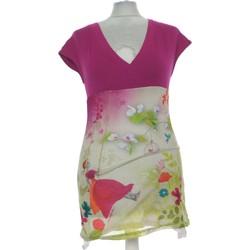 Vêtements Femme Tops / Blouses Anatopik Top Manches Courtes  36 - T1 - S Rose