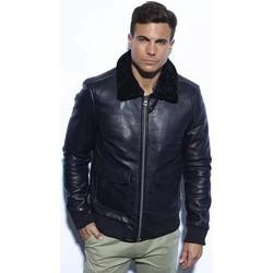 Vêtements Homme Vestes en cuir / synthétiques Daytona MIRAGE FUR COW AIR MILLED BLACK Noir
