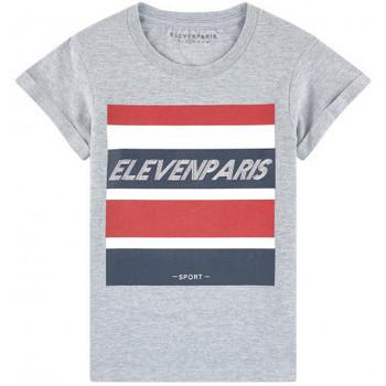 Vêtements Enfant T-shirts manches courtes Eleven Paris Tee shirt junior HELSINK gris Gris