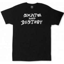 Vêtements T-shirts manches courtes Thrasher Tee shirt homme SKATE AND DESTROY noir THRASCHER Noir
