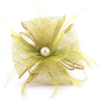 Accessoires textile Femme Chapeaux Léon Montane Coiffe Cérémonie Azina en sisal Anis Vert