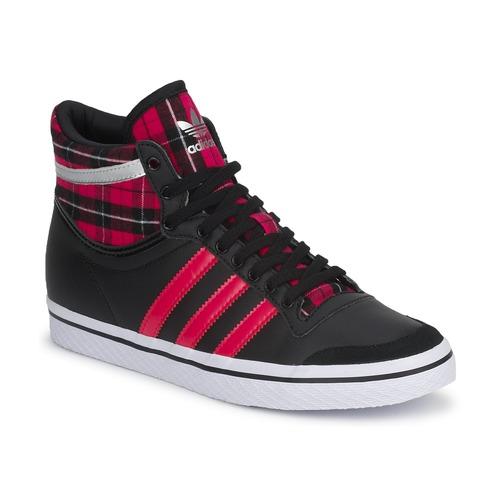 Chaussures Femme Baskets montantes adidas Originals TOP TEN VULC W BLACK 1-BLAZE PINK S13-METALLIC SILVER