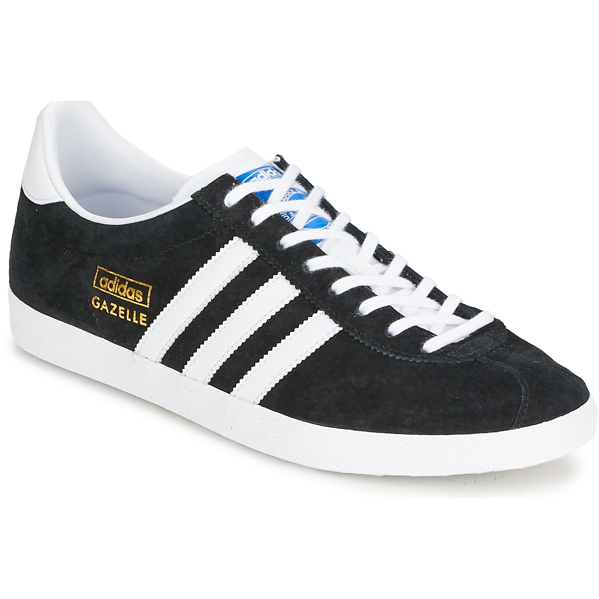 adidas Originals GAZELLE OG Noir / Blanc / Or , Chaussures Baskets basses  70,00 \u20ac