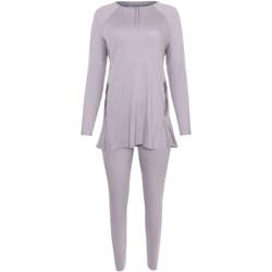 Vêtements Femme Pyjamas / Chemises de nuit Lisca Pyjama tenue d'intérieur leggings top manches longues Ivette Gris