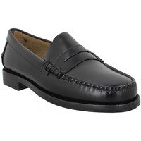 Chaussures Homme Mocassins Sebago Classic Dan W (Wide) cuir Homme Black Noir