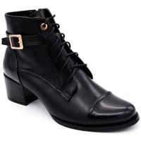 Chaussures Femme Bottines Regarde Le Ciel jolene-04 Noir