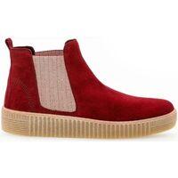 Chaussures Femme Boots Gabor Bottines suede talon  plat Rouge