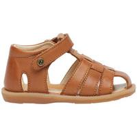 Chaussures Garçon Sandales et Nu-pieds Naturino ZAFFIRO-sandale semi-ouverte en cuir marron