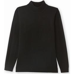 Vêtements Femme Pulls Balsamik Pull manches longues col montant noir