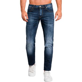Vêtements Homme Jeans slim Monsieurmode Jean homme délavé Jean 1108 bleu Bleu