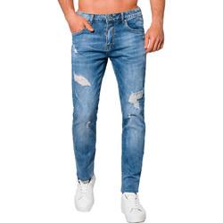 Vêtements Homme Jeans slim Monsieurmode Jean déchiré pour homme Jean 1100 bleu Bleu