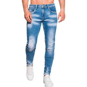 Vêtements Homme Jeans slim Monsieurmode Jean homme déchiré Jean 1099 bleu Bleu