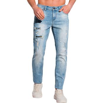 Vêtements Homme Jeans slim Monsieurmode Jean déchiré pour homme Jean 1098 bleu Bleu