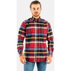 Vêtements Homme Chemises manches longues Barbour carlton tailored shirt re33 rich red rouge
